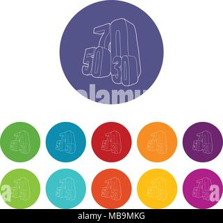 30, 50, 70 percent sale icons set vector color - Stock Photo