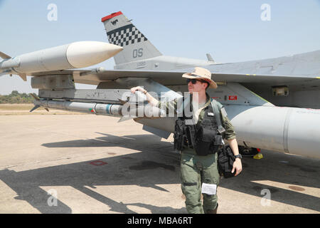 U S  Air Force Capt  Drew Taylor, a fighter pilot with the 36th