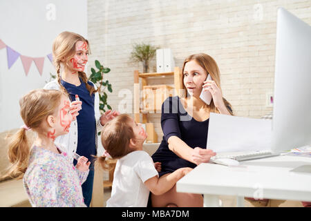 Little Sisters Making Surprise - Stock Photo