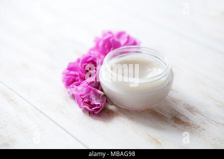 Tired skin cosmetic cream facial skincare medical treatment therapy, anti aging hydrate dermatology professional cleanser moisturizer natural hygiene  - Stock Photo