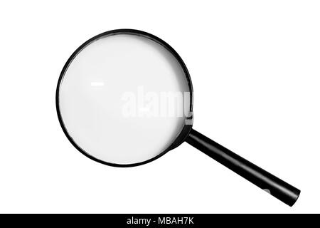 a magnifying glass magnifier on white background - Stock Photo