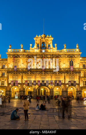 Plaza Mayor, Salamanca, Castile and Leon, Spain