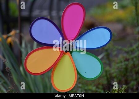 Colorful lawn ornament - Stock Photo