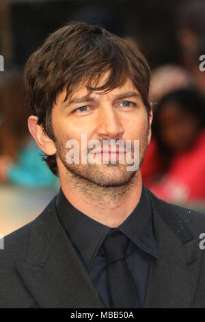 London, UK. 9th Apr, 2018. Michiel Huisman, The Guernsey Literary and Potato Peel Pie Society - World Premiere, Curzon Mayfair, London UK, 09 April 2018, Photo by Richard Goldschmidt Credit: Rich Gold/Alamy Live News - Stock Photo
