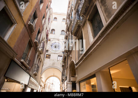 St Mark's Clock Tower in Venice. Italy. Back Side. - Stock Photo