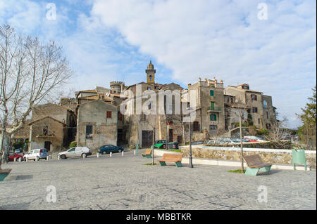 ROME, ITALY - JANUARY 20, 2010: Old buildings of Bracciano Town . Bracciano is a small old town in Lazio, Italy. - Stock Photo