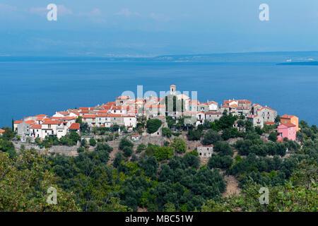 View of Beli, Cres Island, Kvarner Gulf Bay, Croatia - Stock Photo