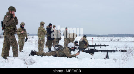 Yavoriv, Ukraine -- Ukrainian Soldiers assigned to 3rd Battalion, 14th Mechanized Brigade operate a DshK machine gun at the Yavoriv Combat Training Center (CTC) here Feb. 16. Currently the 3-14th is completing a training rotation at the CTC where they will be mentored by U.S., Canadian, Lithuanian, Polish, and U.K service members as they strive toward attaining their goal of achieving NATO interoperability. (U.S. Army - Stock Photo