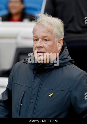 Crawley manager Dermot Drummy at the Parafix Sussex Senior Challenge Cup Final at the American Express Community Stadium in Brighton UK 3rd May 2017 (Dermot DRummy is now deceased) - Stock Photo