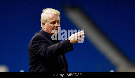 Crawley manager Dermot Drummy during the Parafix Sussex Senior Challenge Cup Final between Brighton and Hove Albion and Crawley Town at the American Express Community Stadium in Brighton UK 3rd May 2017 (Dermot Drummy is now deceased) - Stock Photo