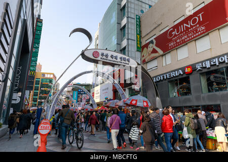 Busan, South Korea - March 24, 2018 : Busan International Film Festival (BIFF) Square in Nampo-dong, Jung-gu - Stock Photo
