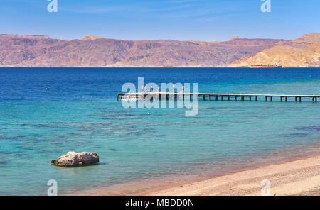 Beach resort Berenice, Aqaba, Jordan - Stock Photo
