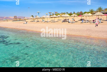 Beach resort Berenice, Aqaba, Jordan - Stock Photo