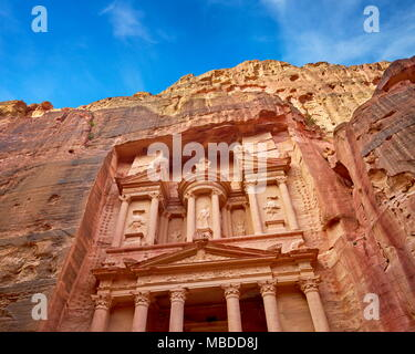 Al Khazneh Treasury, Petra, Jordan - Stock Photo