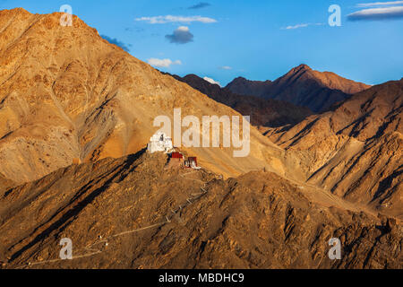 Tsemo (Victory) Fort, Namgyal Tsemo Gompa. Leh, Ladakh, Jammu an Stock Photo