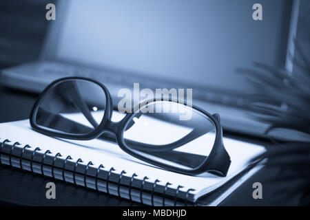 Business and the financial reports a workplace - Stock Photo
