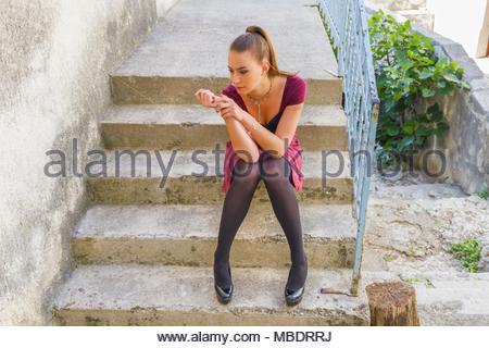 Teenager female girl wellbeing human being - Stock Photo