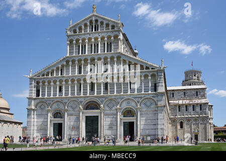 Pisa Cathedral - Primatial Metropolitan Cathedral of the Assumption of Mary 1092 ( Duomo di Santa Maria Assunta ) Pisa, Italy, Italian. - Stock Photo