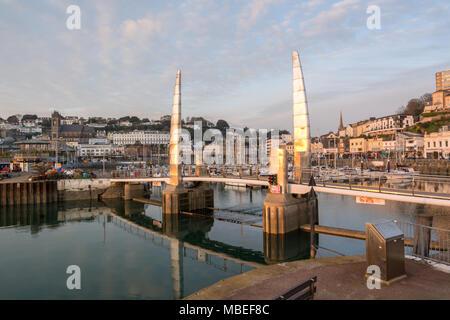 Torquay Harbour Bridge - Stock Photo