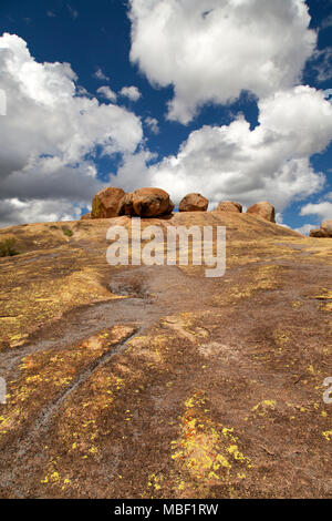 World's End, the resting place of Cecil John Rhodes in Matobo National Park, Zimbabwe. The country was once named Southern Rhodesia, after Rhodes. - Stock Photo