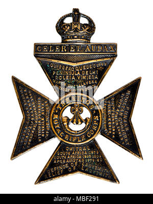 King's Royal Rifle Corps First World War cap badge - Stock Photo