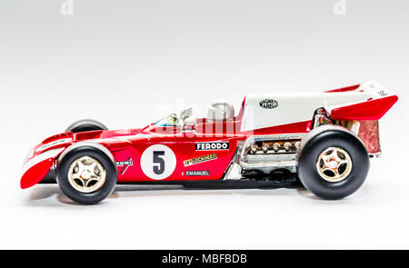 Ferrari 312B2 F12 car 1.36 scale diecast model - Stock Photo