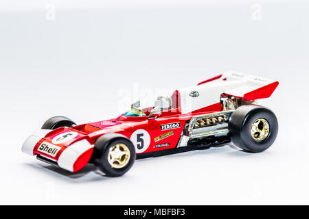 Ferrari 312B2 F12 car 1.36 scale diecast model - Stock Photo