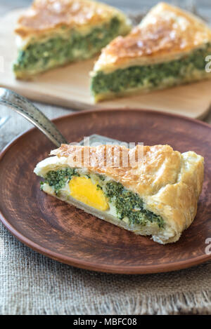 Torta Pascualina - Spinach and Ricotta Tart - Stock Photo