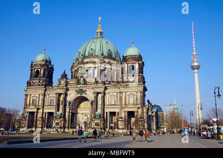 Berlin Cathedral, Berliner Dom, High Renaissance Baroque building, an ugly building - Stock Photo