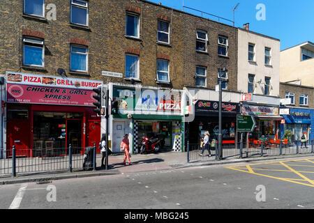 Takeaways at Poplar in London, England, United Kingdom, UK - Stock Photo