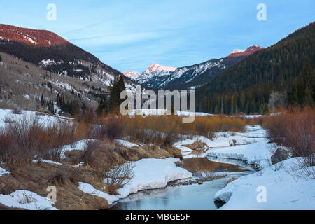 A view of Fools Peak from Sylvan Lake State Park Colorado. - Stock Photo