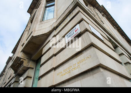 The Royal Society of Medicine - Stock Photo