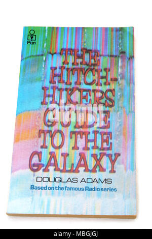 The Hitchhikers Guide To The Galaxy By Douglas Adams Book - Stock Photo