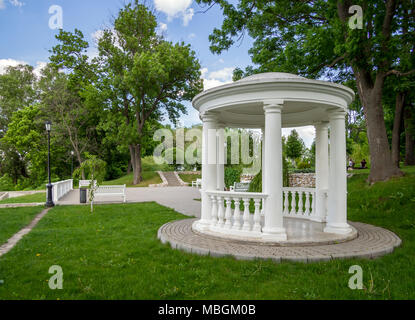 Voronezh, Russia - May 26, 2017: Arbor on the observation deck in the estate park D. Venevitinov - Stock Photo