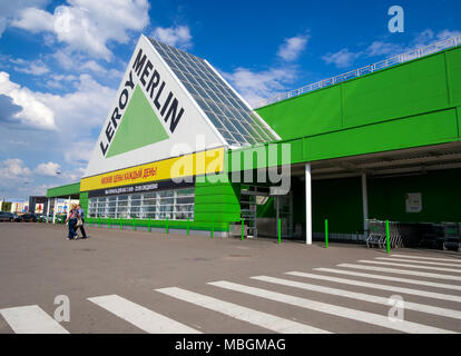 Voronezh, Russia - May 26, 2017: The construction hypermarket 'Leroy Merlin' near the SEC 'Grad', the city of Voronezh - Stock Photo