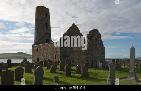 St Magnus Cenotaph, Egilsay, Orkney - Stock Photo