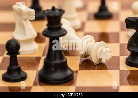 Classic chess It's always good to go back to the classic and do the best you can in the most popular board game. - Stock Photo