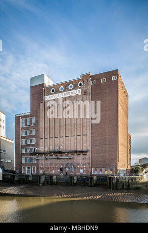 Clarence Flour Mills, prior to demolition, Kingston upon Hull, England, UK - Stock Photo