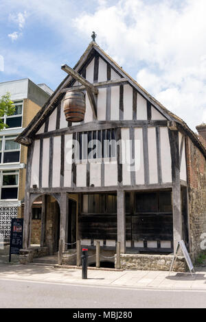 13th century Medieval Merchant's House, French Street, Old Town, Southampton, Hampshire, England, United Kingdom - Stock Photo