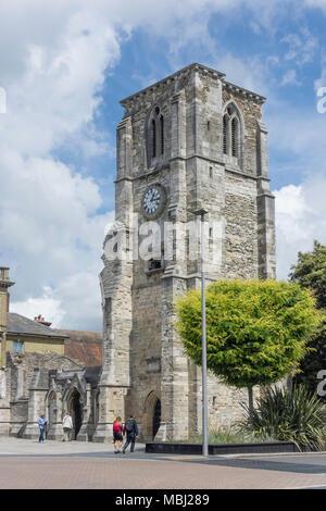 The ruins of Holy Rood Church, High Street, Southampton, Hampshire, England, United Kingdom - Stock Photo