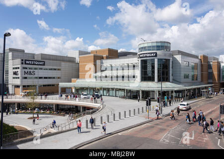 The Arundel Circus entrance to WestQuay shopping centre, Southampton, Hampshire, England, United Kingdom - Stock Photo