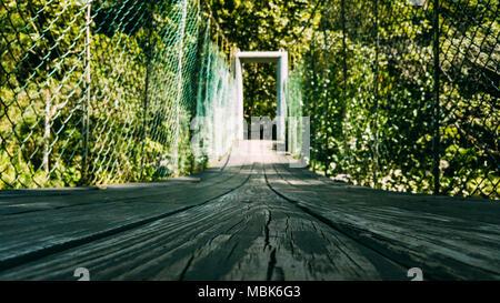 Bridge. Path to exit - Stock Photo