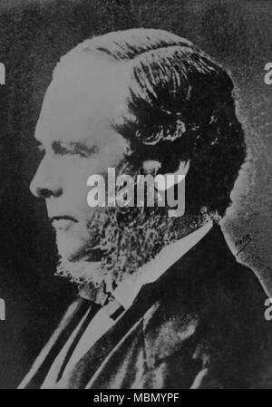 Portrait of the English doctor Joseph Lister ( 1827 - 1912 )  -  photography by    Pierre Petit - Stock Photo