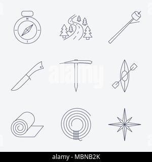 Illustration Of A Survival Knife On White Stock Vector Art