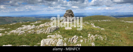 Cairns on Artle crag, Branstree Fell, Mardale Common, Lake District National Park, Cumbria County, England, UK - Stock Photo