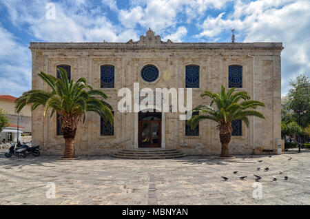Heraklion, Crete Island / Greece: The church of Agios Titos is an Orthodox church in Heraklion, dedicated to Saint Titus - Stock Photo