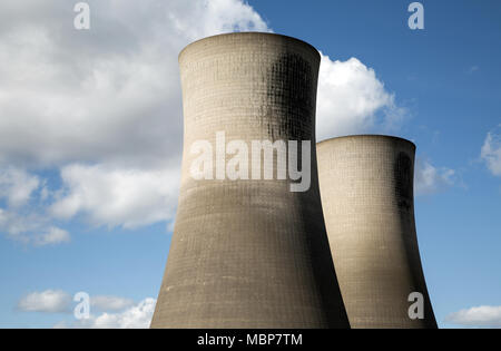 Cooling towers, Middlesbrough, England. - Stock Photo
