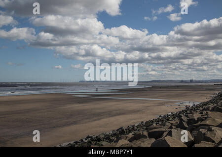 Seaton Carew beach, Hartlepool, England. UK - Stock Photo