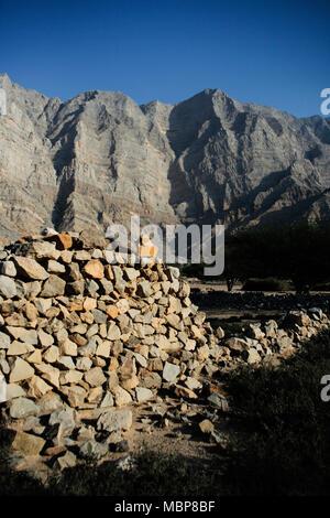 Bukha, Musandam Peninsula, Oman - Stock Photo