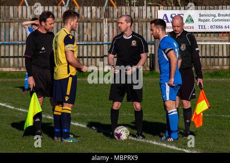 Cwmamman United 2-2 Port Talbot Town. - Stock Photo